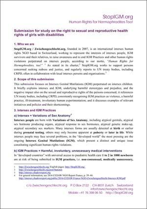 2017 SR Disability NGO Intersex IGM